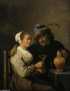 David The Younger Teniers - Tavern Scene