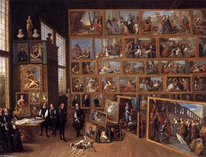 David The Younger Teniers - The Art Collection of Archduke Leopold Wilhelm in Brussels