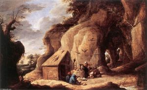 David The Younger Teniers - The Temptation of St Anthony