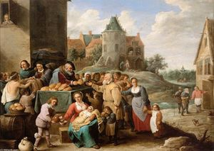 David The Younger Teniers - The Works of Mercy