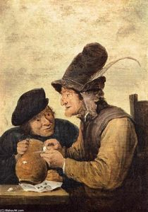 David The Younger Teniers - Two Drunkards