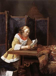 Gerard Ter Borch - A Lady Reading a Letter