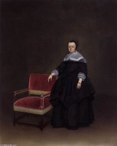 Gerard Ter Borch - Margaretha van Haexbergen, Wife of Jan van Duren