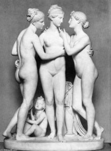Berthel Thorvaldsen - The Three Graces with Cupid