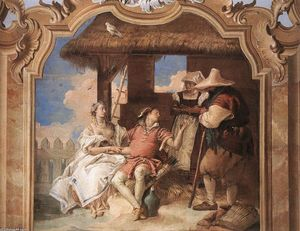 Giovanni Battista Tiepolo - Angelica and Medoro with the Shepherds