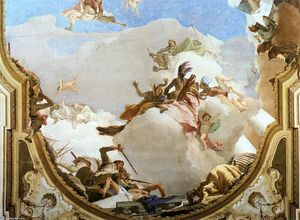 Giovanni Battista Tiepolo - The Apotheosis of the Pisani Family (detail)