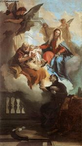 Giovanni Battista Tiepolo - The Holy Family Appearing in a Vision to St Gaetano