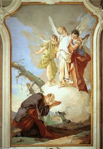 Giovanni Battista Tiepolo - The Three Angels Appearing to Abraham