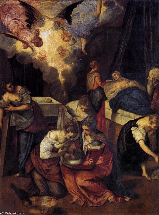 Birth of St John the Baptist, 1563 by Tintoretto (Jacopo Comin) (1518-1594, Italy) | Oil Painting | WahooArt.com
