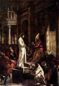 Tintoretto (Jacopo Comin) - Christ before Pilate