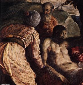 Tintoretto (Jacopo Comin) - Christ Carried to the Tomb (detail)