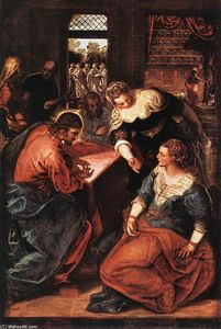 Tintoretto (Jacopo Comin) - Christ in the House of Martha and Mary