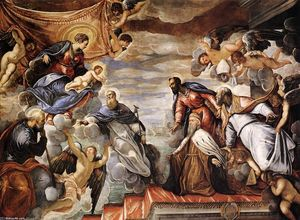 Tintoretto (Jacopo Comin) - Doge Nicolò da Ponte Invoking the Protection of the Virgin
