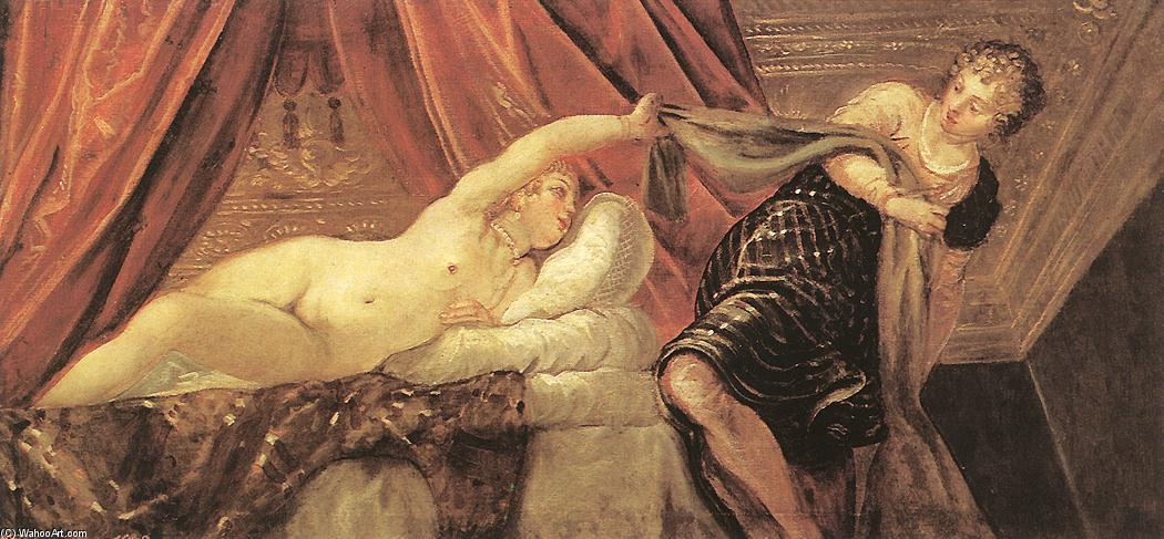 Joseph and Potiphar`s Wife, 1555 by Tintoretto (Jacopo Comin) (1518-1594, Italy) | Famous Paintings Reproductions | WahooArt.com