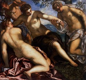 Tintoretto (Jacopo Comin) - Mercury and the Graces