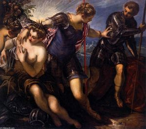 Tintoretto (Jacopo Comin) - Minerva Sending Away Mars from Peace and Prosperity