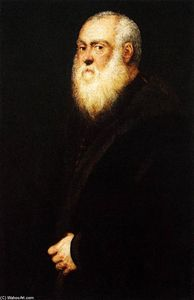 Tintoretto (Jacopo Comin) - Portrait of a White-Bearded Man