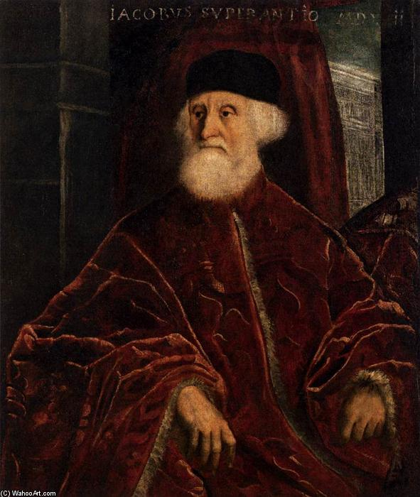 Portrait of Procurator Jacopo Soranzo, 1550 by Tintoretto (Jacopo Comin) (1518-1594, Italy) | Painting Copy | WahooArt.com
