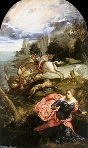 Tintoretto (Jacopo Comin) - St George and the Dragon