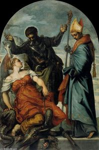 Tintoretto (Jacopo Comin) - St Louis, St George, and the Princess