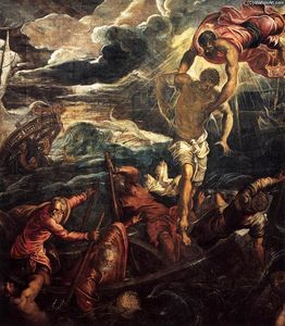 Tintoretto (Jacopo Comin) - St Mark Rescuing a Saracen from Shipwreck