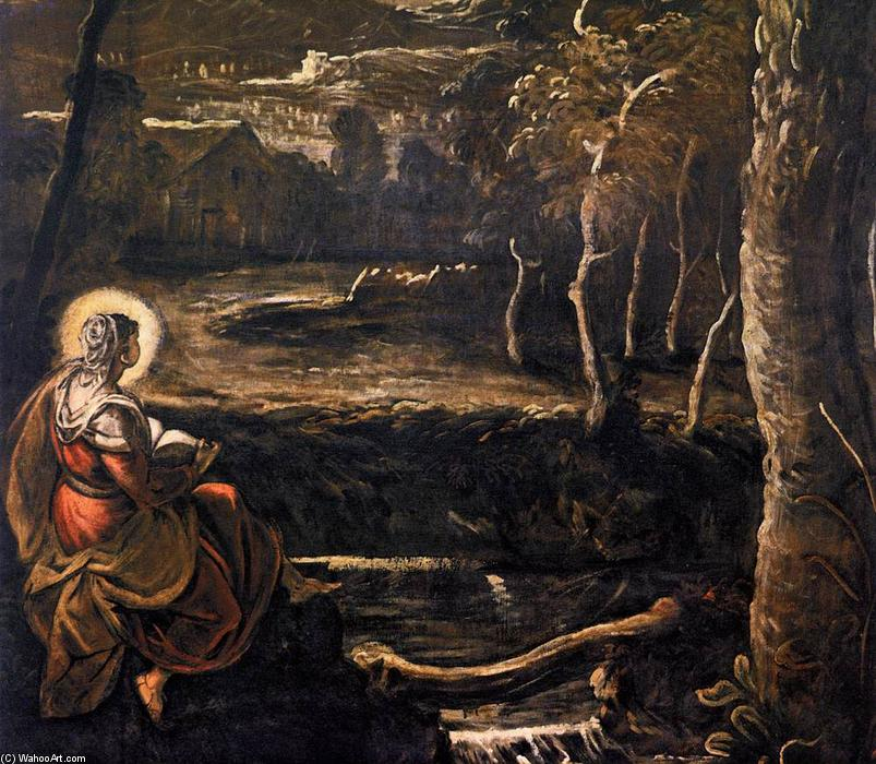 St Mary of Egypt (detail), 1582 by Tintoretto (Jacopo Comin) (1518-1594, Italy) | Museum Quality Reproductions | WahooArt.com
