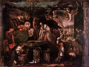 Tintoretto (Jacopo Comin) - The Adoration of the Magi