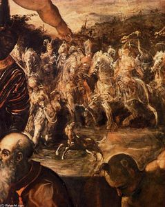Tintoretto (Jacopo Comin) - The Adoration of the Magi (detail)