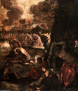 Tintoretto (Jacopo Comin) - The Baptism of Christ