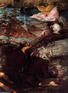 Tintoretto (Jacopo Comin) - The Conversion of Saul (detail)