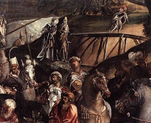 Tintoretto (Jacopo Comin) - The Crucifixion (detail) (12)