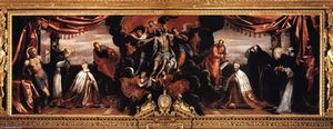 Tintoretto (Jacopo Comin) - The Dead Christ Adored by Doges Pietro Lando and Marcantonio Trevisan