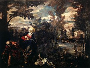 Tintoretto (Jacopo Comin) - The Flight into Egypt