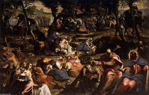 Tintoretto (Jacopo Comin) - The Jews in the Desert