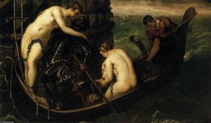 Tintoretto (Jacopo Comin) - The Liberation of Arsinoe