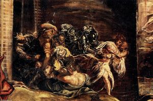 Tintoretto (Jacopo Comin) - The Massacre of the Innocents (detail)