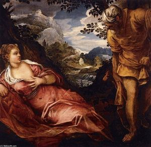 Tintoretto (Jacopo Comin) - The Meeting of Tamar and Judah