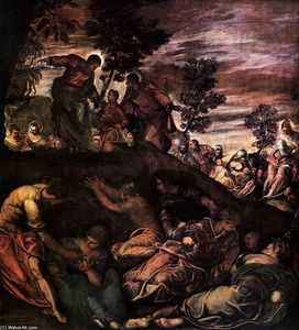 Tintoretto (Jacopo Comin) - The Miracle of the Loaves and Fishes