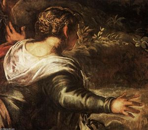 Tintoretto (Jacopo Comin) - The Raising of Lazarus (detail)