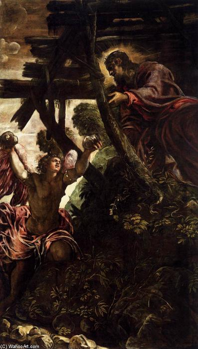 The Temptation of Christ, 1579 by Tintoretto (Jacopo Comin) (1518-1594, Italy) | Museum Art Reproductions Tintoretto (Jacopo Comin) | WahooArt.com