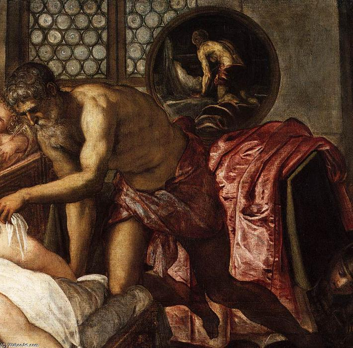 Venus, Mars, and Vulcan (detail), 1551 by Tintoretto (Jacopo Comin) (1518-1594, Italy) | Art Reproduction | WahooArt.com
