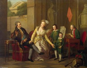 Johann Friedrich August Tischbein - Portrait of the Saltykov Family