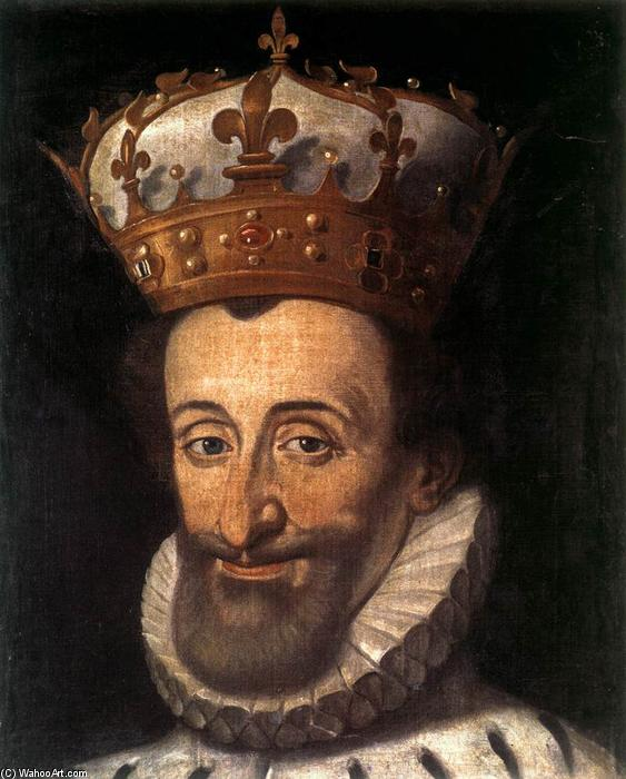 Portrait of Henry IV of France, Oil On Canvas by Santi Di Tito (1536-1603, Italy)