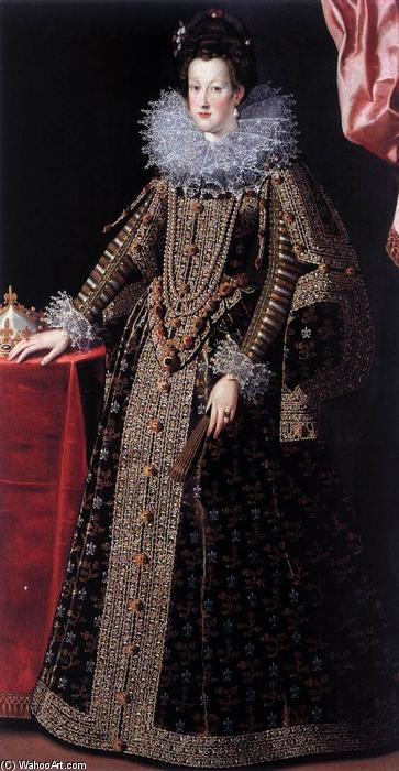 Portrait of Maria de' Medici, Oil On Canvas by Santi Di Tito (1536-1603, Italy)