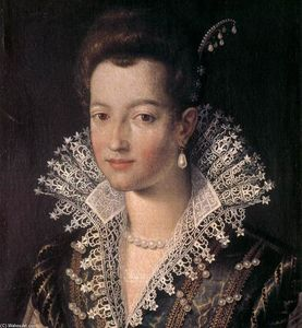 Santi Di Tito - Portrait of the Young Maria de' Medici