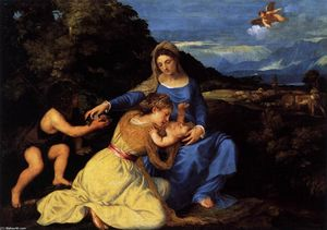 Tiziano Vecellio (Titian) - Madonna and Child with Saints