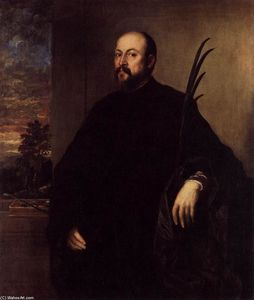 Tiziano Vecellio (Titian) - Portrait of a Man with a Palm