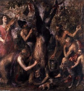 Tiziano Vecellio (Titian) - The Flaying of Marsyas