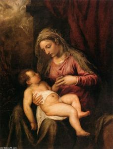 Tiziano Vecellio (Titian) - Virgin and Child