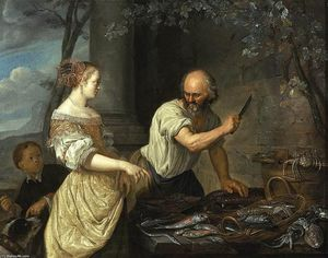 Jacob Toorenvliet - A Fish Seller